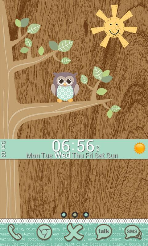 Go Launcher Themes: Hoot - screenshot