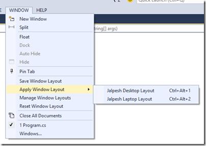 apply-windows-layout-visual-studio-2015