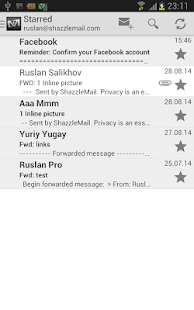 ShazzleMailMobile - náhled