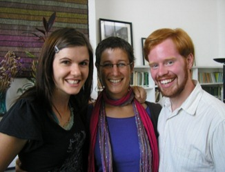 Friends from three continents in Mexico City