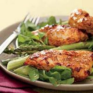 Yogurt-Marinated Chicken with Asparagus and Watercress