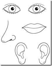 Dibujos De Los 5 Sentidos Para Colorear