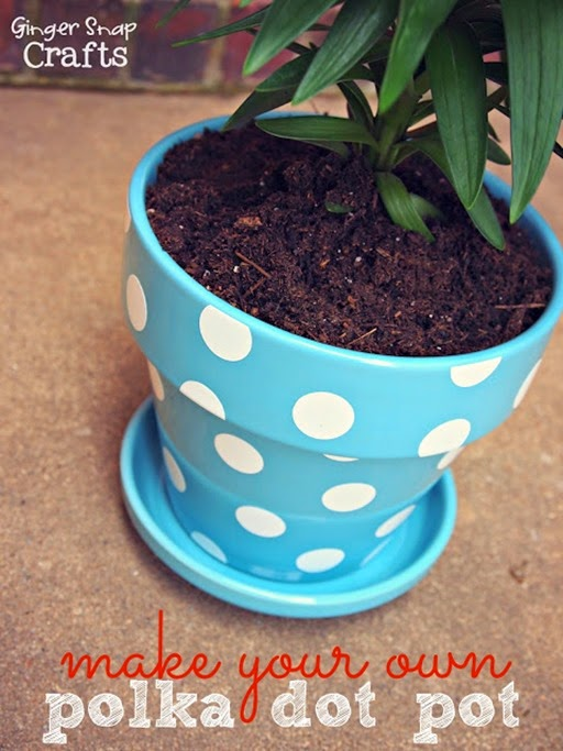 make your own polka dot pot at GingerSnapCrafts.com