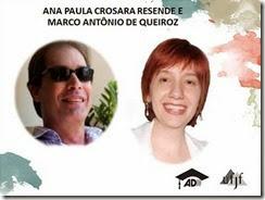 Ana Paula e MAQ foram homenageados durante aula inaugural