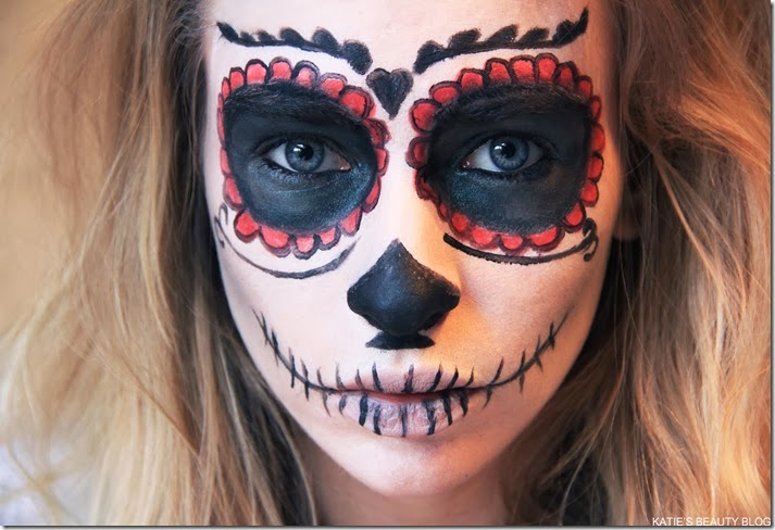 Halloween Makeup Tutorial: Mexican Sugar Skull! - Katie Snooks