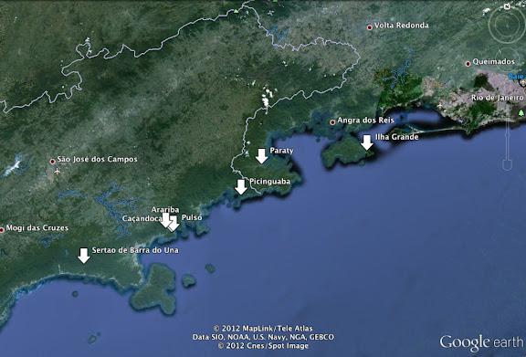 Principales localisations 2011-2012
