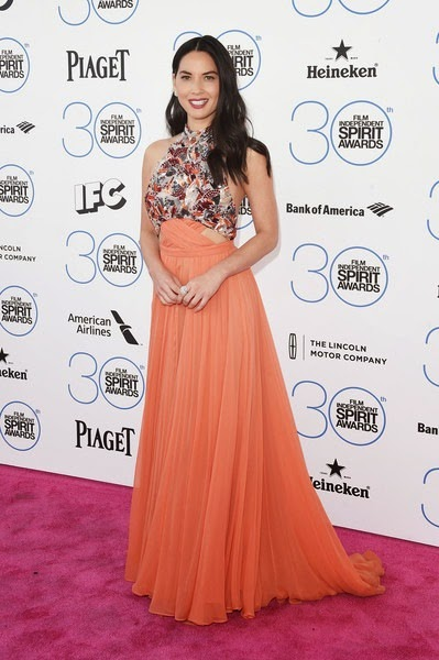 Olivia Munn attends the 2015 Film Independent Spirit Awards