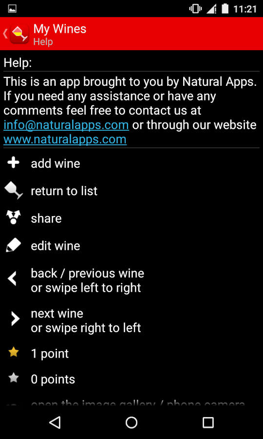 My Wines Trial- screenshot
