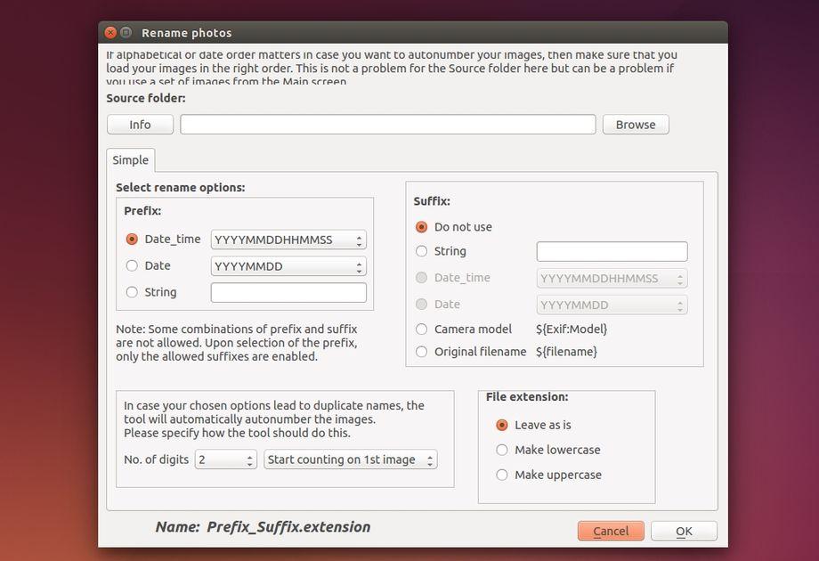 Exiftool ubuntu gui