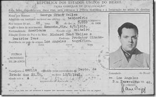 奥森韦林斯'巴西移民卡,1942年2月拍摄