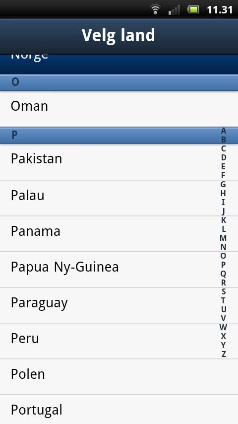 Hjelp utland - screenshot