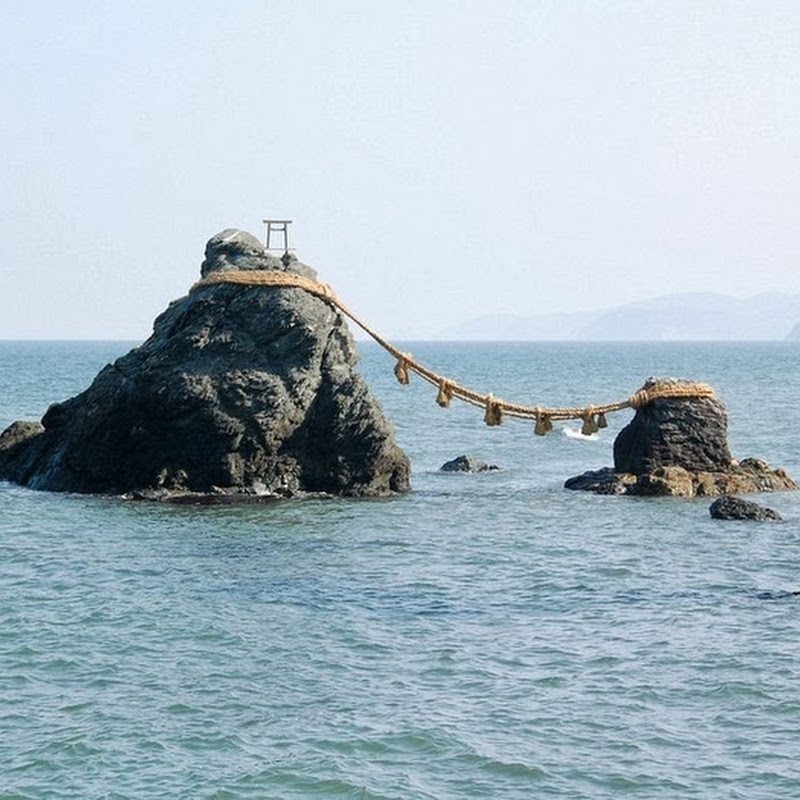 Meoto Iwa, the Wedded Rocks