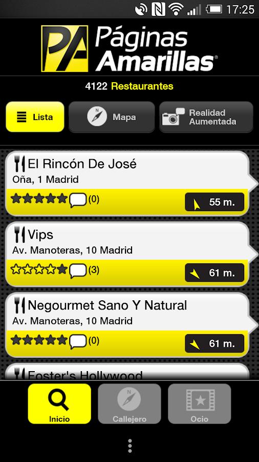 Páginas Amarillas España - screenshot