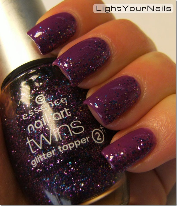 Essence Nail Art Twins Colour Base Gabriella, Essence Nail Art Twins Glitter Topper Troy, glitter gradient