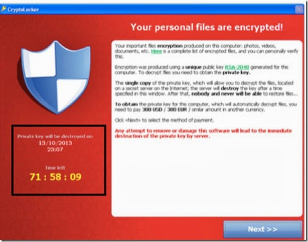your files are encrypted