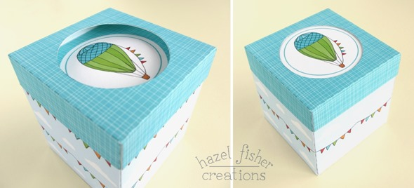 hot air balloon cupcake box tutorial 6