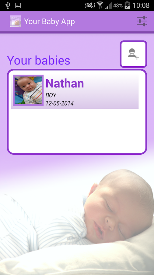 Your Baby App (baby - parents) - screenshot