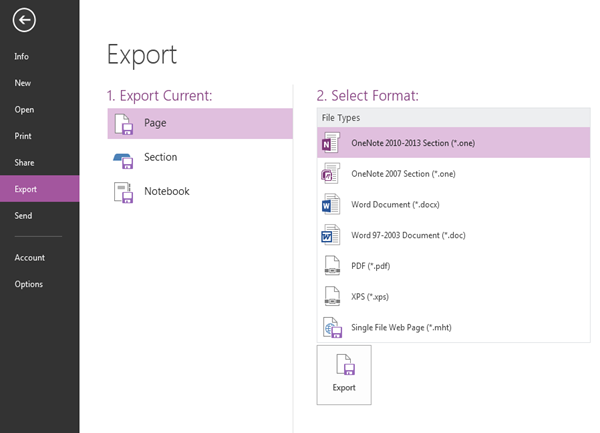 Your Next Step: How To Export From OneNote
