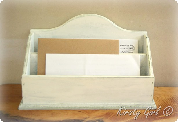 shabby french mail organiser 2