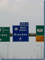8339 Manitoba Trans-Canada Highway 1 - sign to Highway 100 (around Winnipeg)