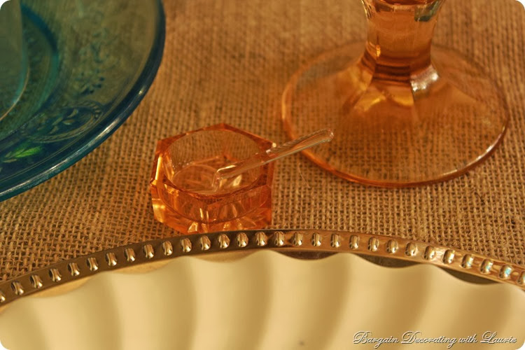 Vintage salt cellar-Bargain Decorating with Laurie