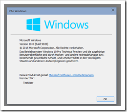 Windows 10 Screenshot 7 - Technical Preview 9926