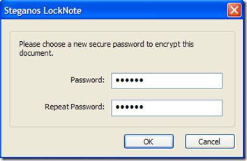 LockNote settare password