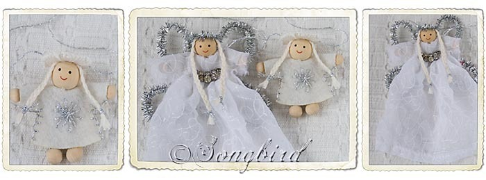 White Christmas Puppets Ornaments