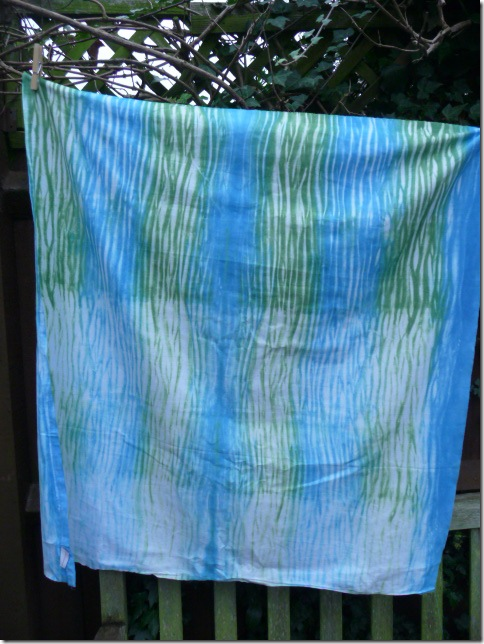 Pole dyeing and table runner 007