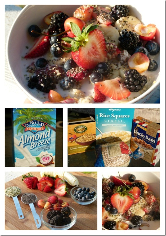 Red white blueberry breakfast cereal