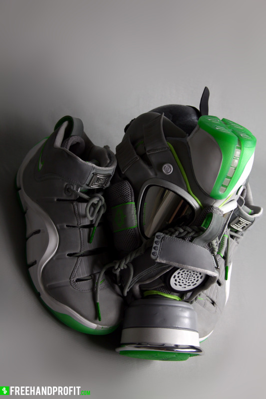 "27f5a23ff1c8 LeBron IV Dunkman Inspired Gas Mask By Freehand Profit  The post Nike  Lebron 9 Elite "" ..."