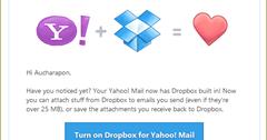 แนบไฟล์ขนาดใหญ่จาก dropbox กับ Yahoo mail   Aphsara Online