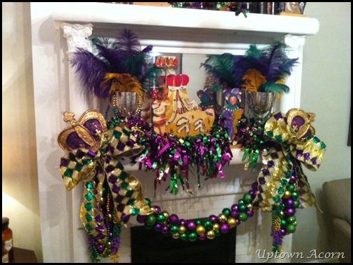 The Uptown Acorn Mardi Gras Mantle 2013