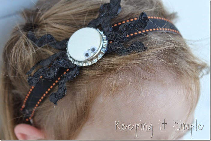 Halloween headband with bottlecap spider (9)