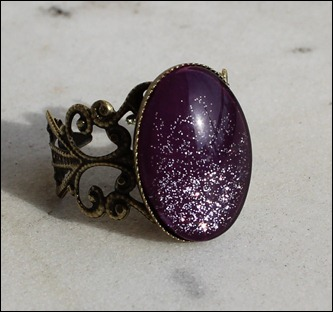 Silver Purple Ring Bronze Schnörkel