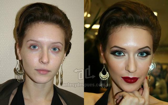 Antes y despues del maquillaje 18
