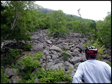 21b - post 14 to post 10 Jordan Cliff Rock Slide