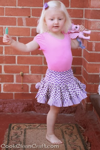 Tiered Gathered Skirt (2)