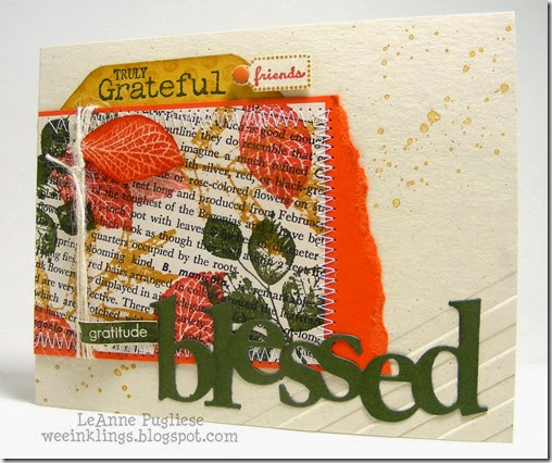 LeAnne Pugliese WeeInklings Paper Players 217 Blessed Grateful Stampin Up Gratitude