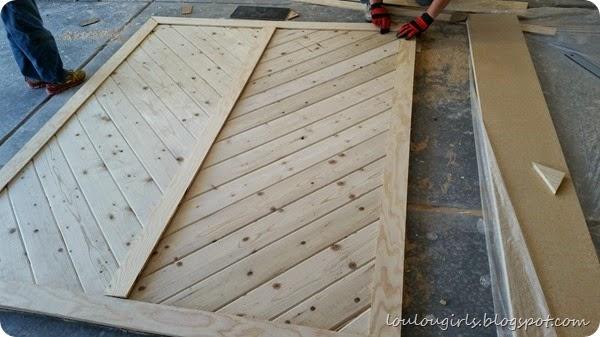 How To Build Your Own Chevron Barn Door Lou Lou Girls