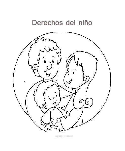 Dibujos De Los Derechos Del Niño Para Pintar Actividades Para