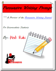 persuasive writing prompt to review the writing proccess - free