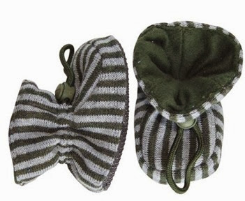 Melton Baby Booties- Stripes