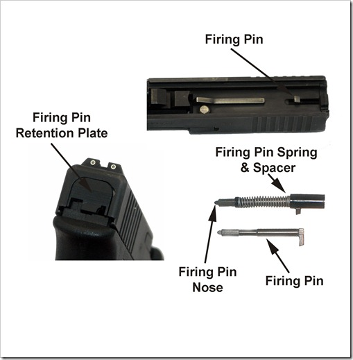 Glock Rear Slide and Firing Pin