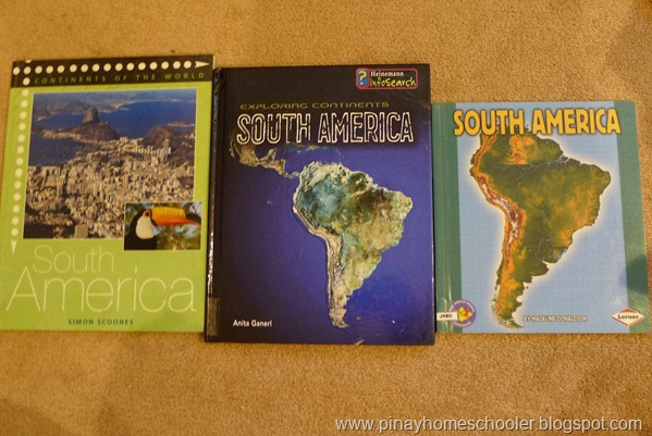 South America Continent Study Books