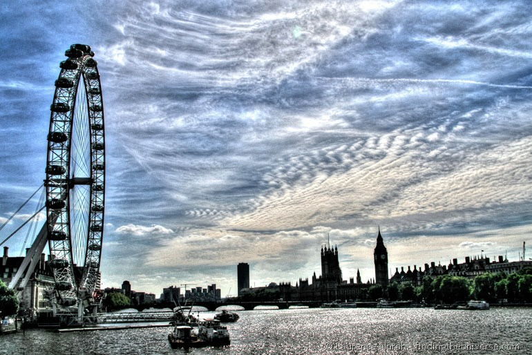 Essential English Cities london eye and parliament
