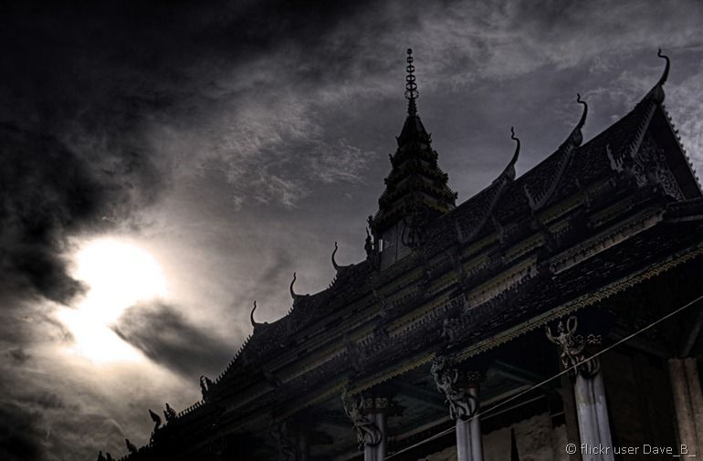 Battambang stormy temple from flickr user Dave_B_