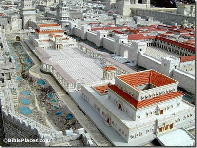 Jerusalem model Herod's Palace from southwest, tb020101208