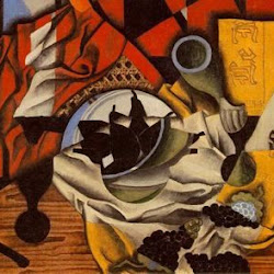 Juan Gris (1913): Peras y uvas sobre la mesa. Colección de Mr. y Mrs. Burton Tremaine. Meriden. USA.