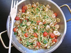 Shrimp Pasta pan